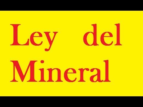 ejercicios de ley del mineral