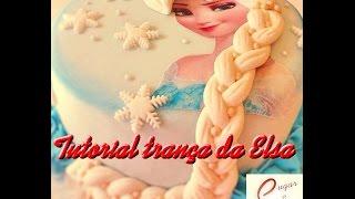 Cake Design   Bolo Frozen Trança Elsa Pasta Americana   Como fazer