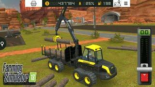 Fs18 -  otomatik ağaç taşıma makinesi almak / take the automatic wood transport machine