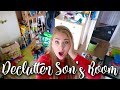 DECLUTTER DEEP CLEAN MY SONS ROOM - HUGE MESS - SPEED CLEAN WITH ME - MRS HINCH STYLE - LOTTE ROACH