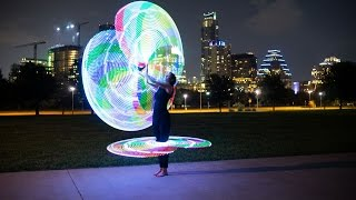 Corean Gonzales LED Hula Hoop To