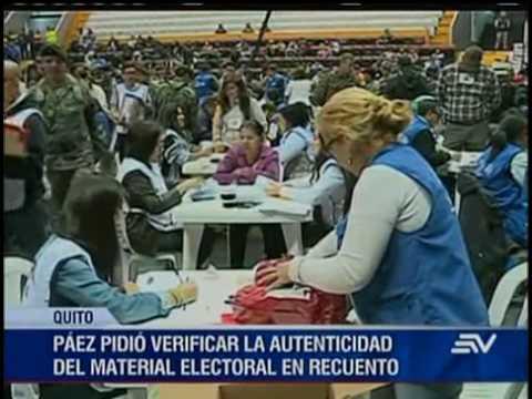 Andrés Paéz pide a Fiscalía verificar autenticidad de papeletas en reconteo de votos