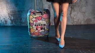 видео Пластиковые чемоданы на колесах купить