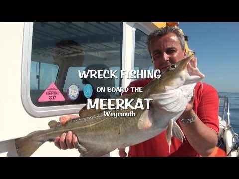 Weymouth Dorset UK Wreck Sea Fishing Onboard The Angling Charter Boat The MeerKat
