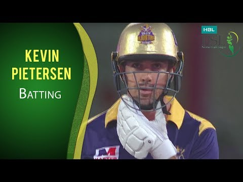 PSL 2017 Match 11: Quetta Gladiators vs Lahore Qalandars - Kevin Pietersen Batting