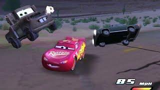 Disney Pixars Cars Movie Game   Crash Mcqueen 188 - Super Backwards Bump