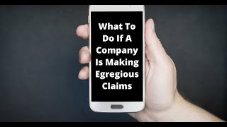 What should I do if a company is making egregious supplement or CBD claims?