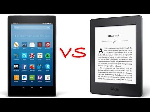 Kindle Fire vs Kindle Paperwhite
