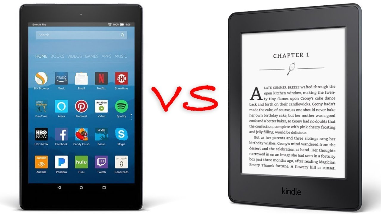 kindle fire vs kindle paperwhite youtube