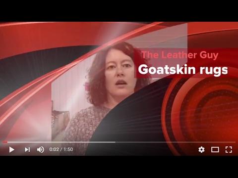 Goatskin Rugs (Hair-On Hides) & Uses