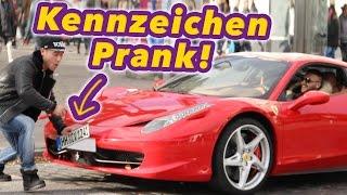 Auto-Kennzeichen Abschrauben! PRANK