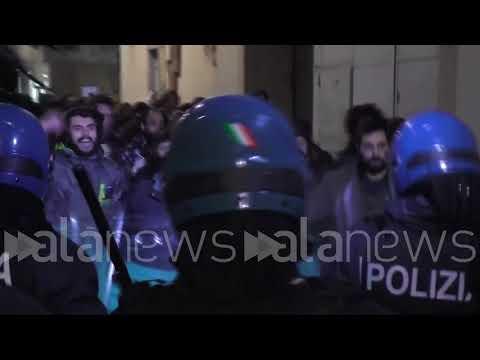 Pavia, violenti scontri tra Polizia e manifestanti