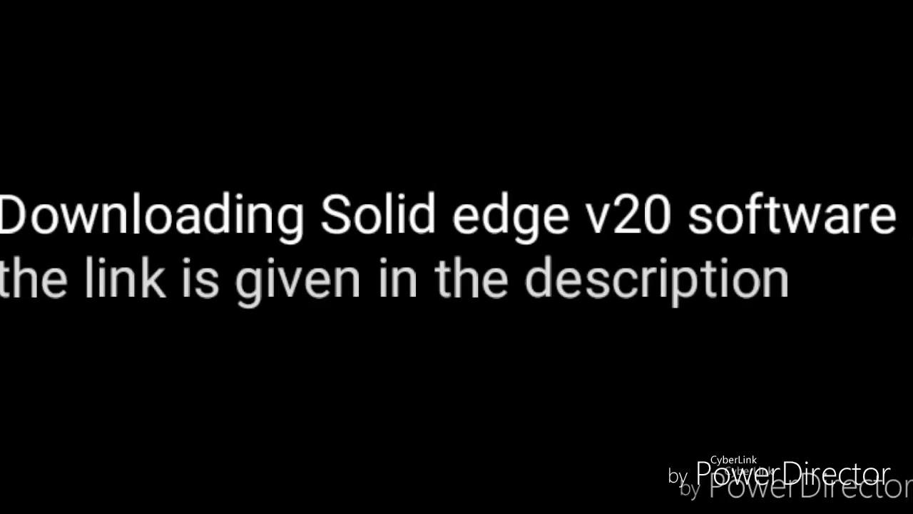 solid edge v20 download