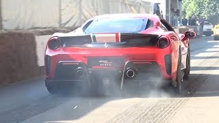 Ferrari 488 Pista Driven FAST! - Burnouts and Pure V8 Sound