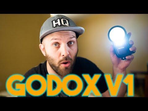 美眉配件 神牛 Godox V1 閃光燈 圓燈頭 鋰電池 2.4G TTL 閃燈 棚燈 機頂燈 高速同步 非A1