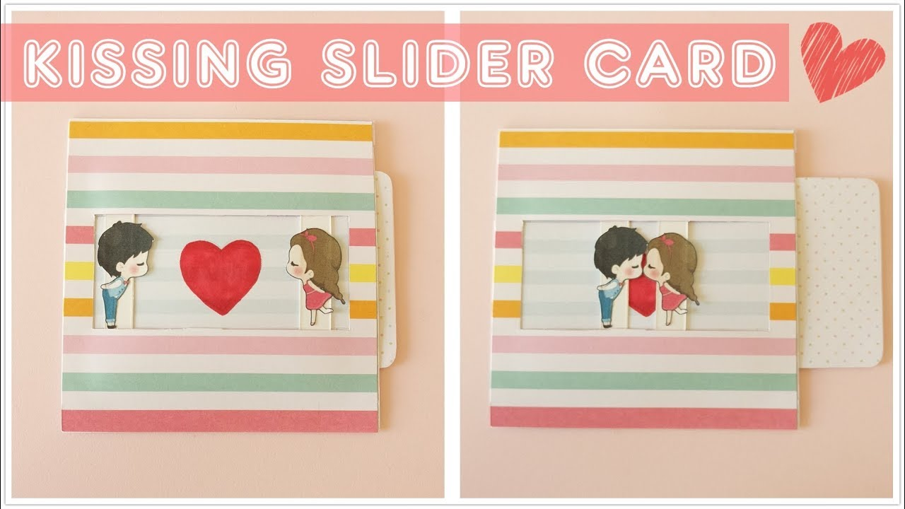 Heart Slider Card Tutorial Love Slider Card Tutorial Card Making Idea Youtube Card Tutorial Slider Cards Photo Cards Diy