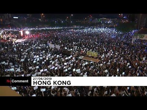 شاهد: آلاف المتظاهرين في هونغ كونغ يستنجدون بدول العشرين بسبب قمع الصين…  - 09:53-2019 / 6 / 28