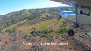 Cessna 170 at a Beautiful Sierra Nevada Foothills Airstrip