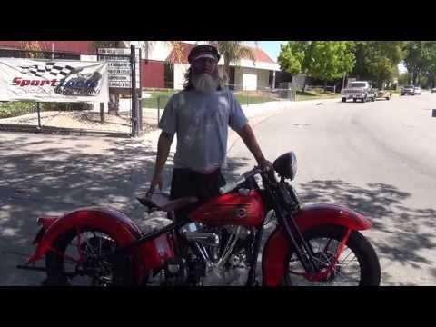 Hunting Harleys, 1937 Harley EL OHV Knucklehead, restored