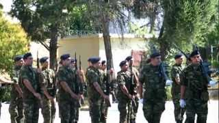 Hellenic Army Brigade War Flag parade and National Anthem.