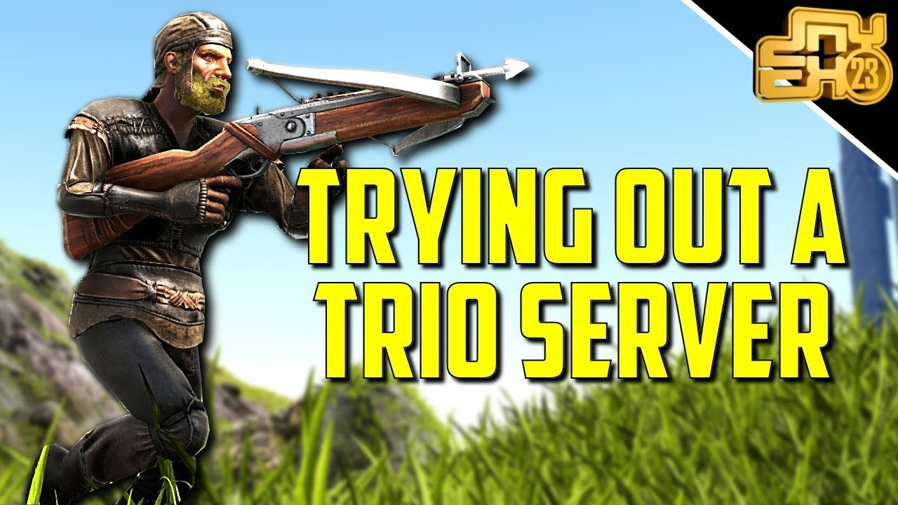 SO I PLAYED 3 MAN PVP SERVERS - Ark MTS Trio Cluster