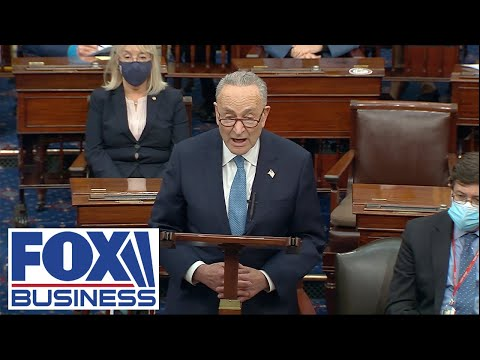 Schumer delivers remarks after three new senators are sworn in