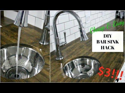 DIY CHEAP BAR SINK HACK | SAVE $$$