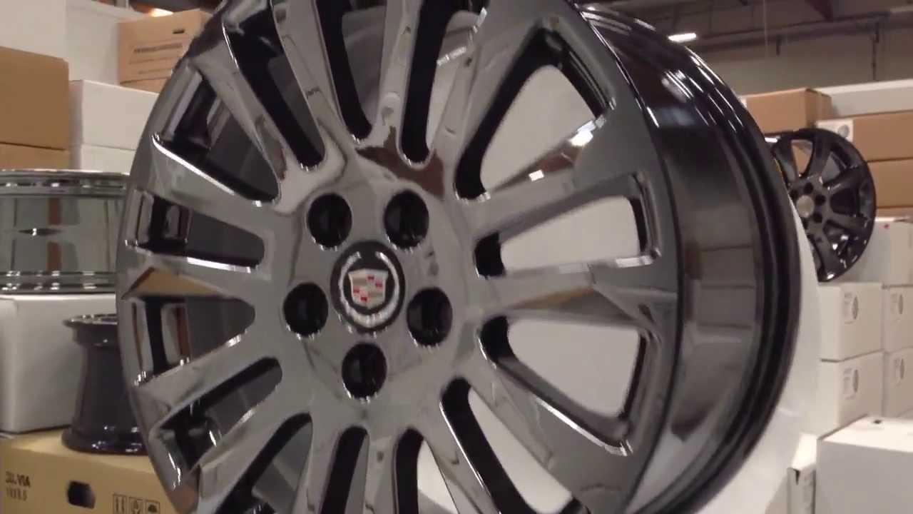 Cadillac Cts Black Rims 4 New Cadillac Cts 18 Pvd Black Chrome Wheels