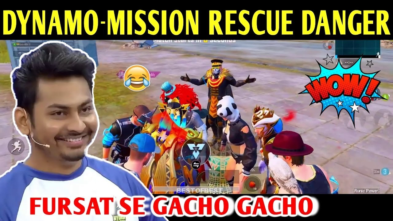 DYNAMO - MISSION RESCUE HYDRA DANGER | PUBG MOBILE | BEST OF BEST