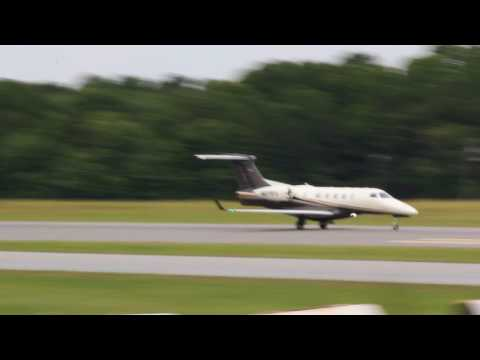 Flight Options Phenom 300 Take Off at Hickory Regional  (6-12-17)