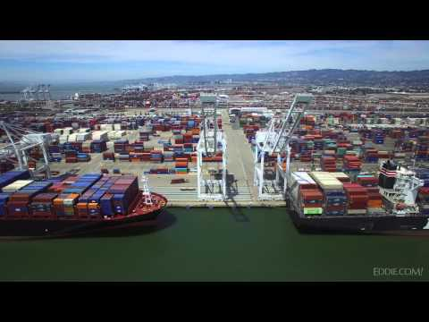 Aerial View of the Port of Oakland Container Terminal