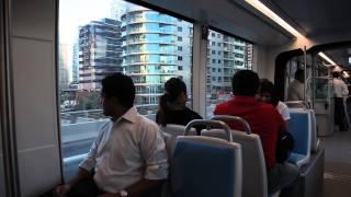 Dubai Tram welcomes its first passengers - video