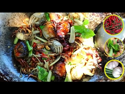 Amazing!! How to Cook Crabs in Cambodia - Countryside Food