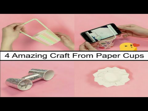 4 AMAZING CRAFT FROM PAPER CUPS HELP YOU SAVE MONEY.