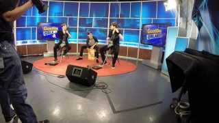 Playing Cajón on TV with Emil & Dariel! Paranoid - Enter Sandman - Rockcellos