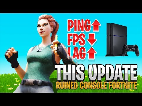 So Console Fortnite Is BROKEN Again... (Fortnite PS4 + Xbox - New Update)