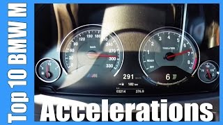 TOP 10 BMW M Acceleration & Top Speed   Z3M Z4M M3 M4 M5 M6 X5M X6M M235i