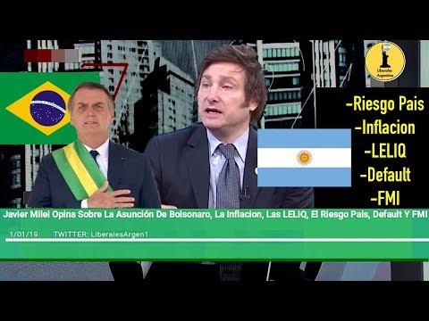 Javier Milei Sobre La Asunción De Bolsonaro Y La Economía De Argentina En El 2019