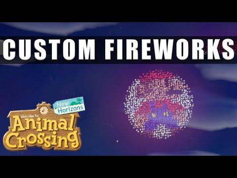 Animal Crossing New Horizons how to do custom fireworks