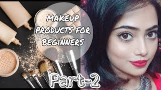 MAKEUP PRODUCTS FOR BEGINNERS-PART2||STEP BY STEP MAKEUP REGIMS||
