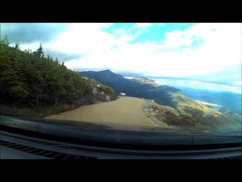 Mt. Washington Auto Road uphill and downhill drive