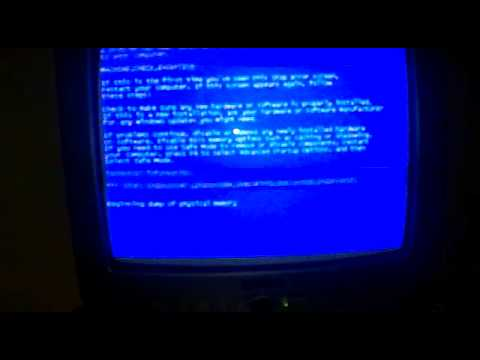 Blue Screen of Death on TV