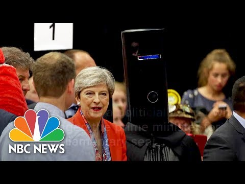 'Lord Buckethead' Steals Limelight From British PM Theresa May | NBC News