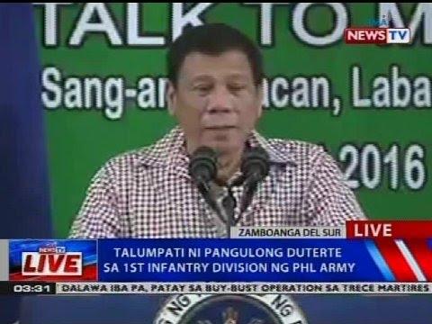 Talumpati ni Pangulong Duterte sa 1st Infantry Division ng PHL Army