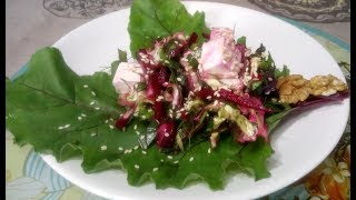 Вкусный витаминный салат