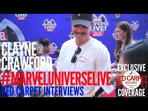 Clayne Crawford #lethalweaponFOX interviewed at the Marvel Universe LIVE! Age of Heroes premiere