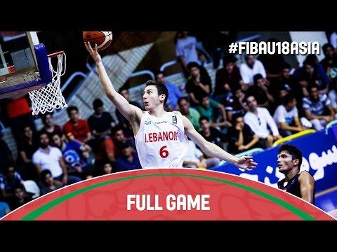 Lebanon v India - Full Game - Quarter Final - 2016 FIBA Asia U18 Championship