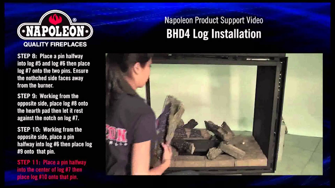 Napoleon BHD4 Log Set Installation Tutorial