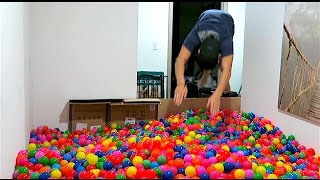 INDOOR BALL PIT DIVING!!