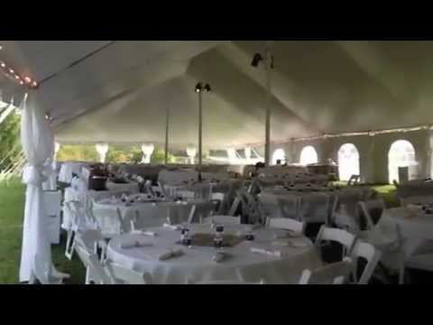 & Stunning 40x100 Wedding Tent - Make Your BIG DAY Memorable! - YouTube